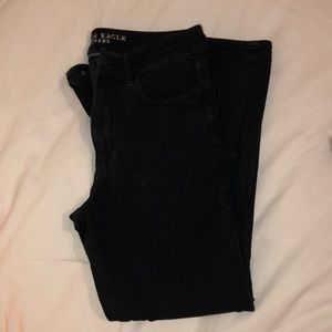 American eagle black high rise stretchy jeans